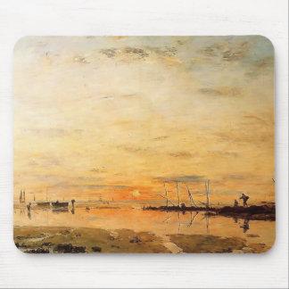 Eugene Boudin- Le Havre. Puesta del sol durante la Tapete De Raton