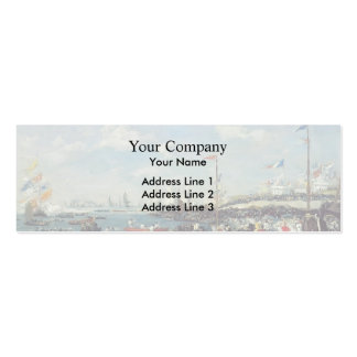 Eugene Boudin- Le Havre, the regatta festival Business Cards
