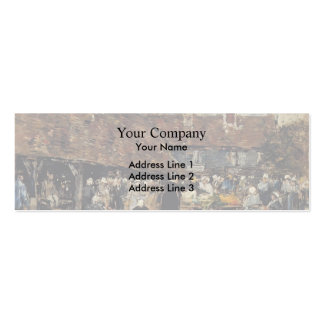 Eugene Boudin- Market at Trouville Double-Sided Mini Business Cards (Pack Of 20)