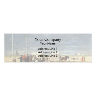 Eugene Boudin- On the Beach Business Cards