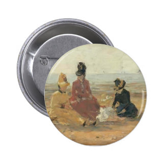 Eugene Boudin- On the Beach, Trouville Pinback Buttons