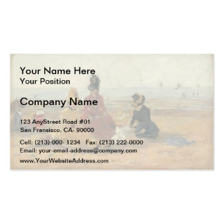 Eugene Boudin- On the Beach, Trouville Double-Sided Standard Business Cards (Pack Of 100)