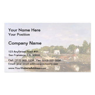 Eugene Boudin- Petit Port de Saint-Jean Double-Sided Standard Business Cards (Pack Of 100)