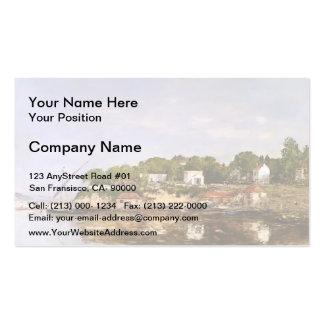 Eugene Boudin- Petit Port de Saint-Jean Double-Sided Standard Business Cards (Pack Of 100)