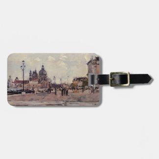 Eugene Boudin- Pier in Venice Travel Bag Tags