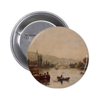 Eugene Boudin- Rouen, the Santa-Catherine Coast Pinback Buttons