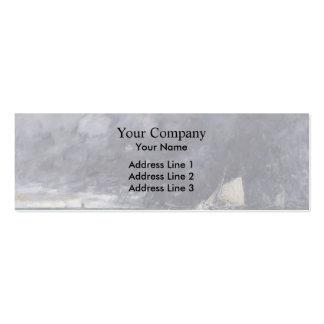 Eugene Boudin- Rough Seas Business Card