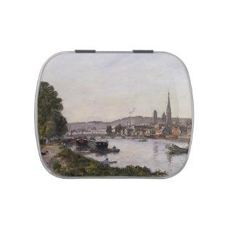 Eugene Boudin- Ruán, visión sobre el río el Sena Jarrones De Dulces