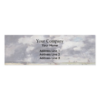 Eugene Boudin- Shore at Low Tide Rainy Weather Business Card Templates