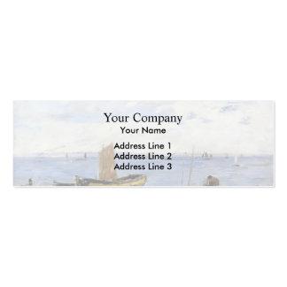 Eugene Boudin- Shore at Sainte-Adresse Low Tide Business Card Template