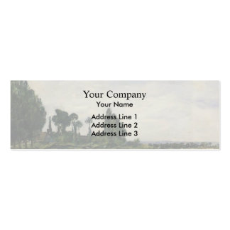 Eugene Boudin- Small Canal at Quilleboeuf Business Card Template