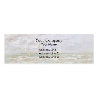 Eugene Boudin- Standing off Deauville Business Card Templates