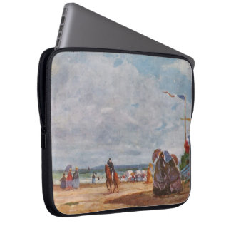 Eugene Boudin- Strand in Trouville Computer Sleeve