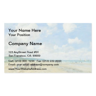 Eugene Boudin- The beach at Deauville Double-Sided Standard Business Cards (Pack Of 100)