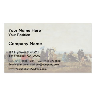 Eugene Boudin- The Beach at Trouville Double-Sided Standard Business Cards (Pack Of 100)