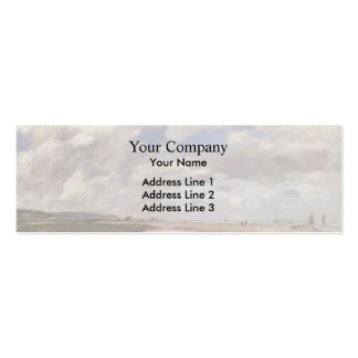 Eugene Boudin- The Beach, Deauville Business Cards