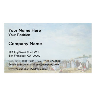Eugene Boudin- The Beach Double-Sided Standard Business Cards (Pack Of 100)