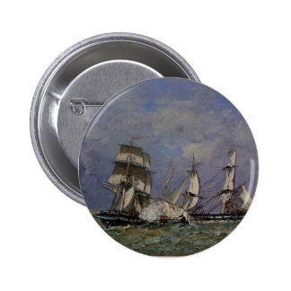 Eugene Boudin- The Capture of the 'Petit Rodeur' Pinback Buttons