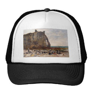 Eugene Boudin- The Laundresses of Etretat Hats