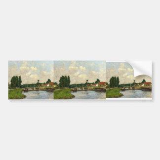 Eugene Boudin- The Lock at Saint-Valery-sur-Somme Car Bumper Sticker