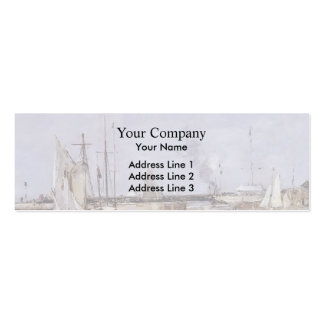 Eugene Boudin- The Lock at Trouville Business Card