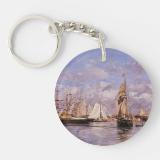 Eugene Boudin- The Port of Trouville, High Tide Acrylic Key Chains