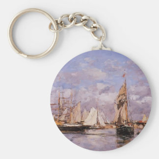 Eugene Boudin- The Port of Trouville, High Tide Key Chains