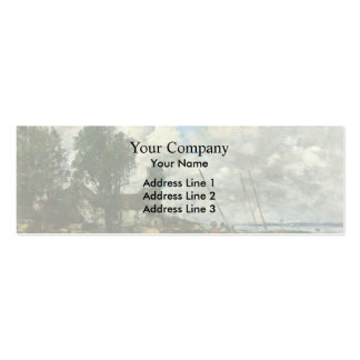 Eugene Boudin- The Shore at Plougastel Business Card Templates