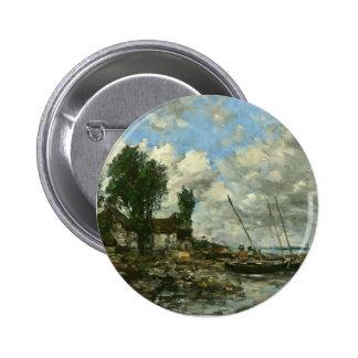 Eugene Boudin- The Shore at Plougastel Pinback Button