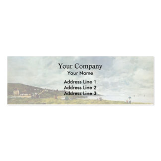 Eugene Boudin- The Shore at Tourgeville Business Cards