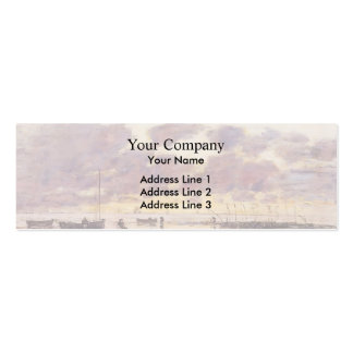 Eugene Boudin- The Shores of Sainte Adresse Business Card Template