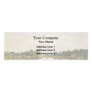 Eugene Boudin- The Still River at Deauville Business Card Template