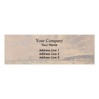 Eugene Boudin- The Tourgeville Shores Business Card Templates