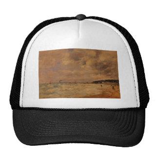 Eugene Boudin- The Tourgeville Shores Hat