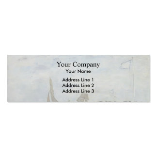 Eugene Boudin- The Trouville Jetty Business Card Template