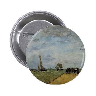 Eugene Boudin- The Trouville Jetty Pinback Button