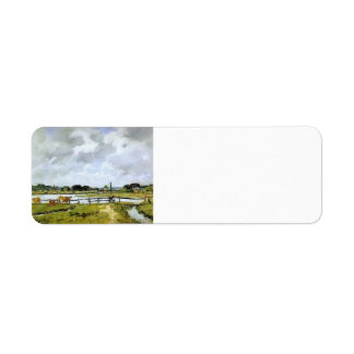 Eugene Boudin- The Valley of the Touques Return Address Label