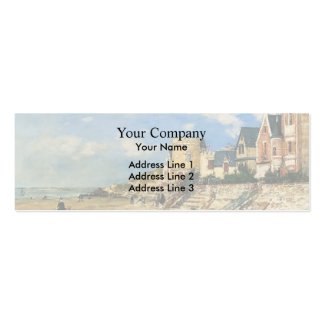 Eugene Boudin- Tower Malakoff Trouville Shore Business Cards