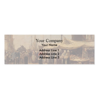 Eugene Boudin- Trouville, Fish Market Double-Sided Mini Business Cards (Pack Of 20)