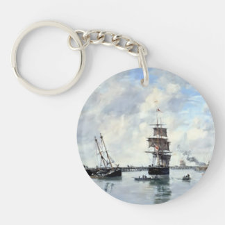 Eugene Boudin- Trouville, piers, high tide Acrylic Keychains