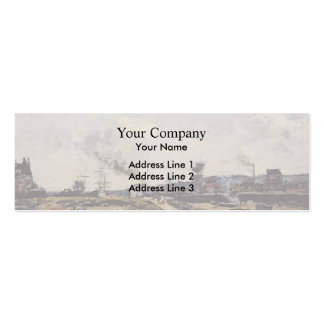 Eugene Boudin- Trouville, the Ferry to Deauville Business Card Template