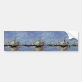 Eugene Boudin- Trouville, the Jettys, High Tide Bumper Stickers