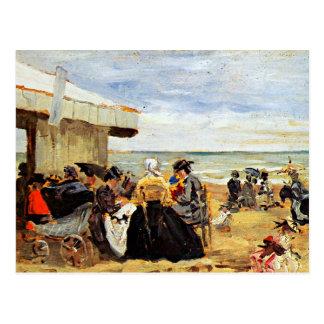 Eugene Boudin: Una escena de la playa Tarjetas Postales