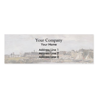 Eugene Boudin- View of the Port, Trouville Business Card Templates