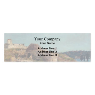 Eugene Boudin- Villefranche, the Citadel Double-Sided Mini Business Cards (Pack Of 20)