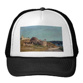Eugene Boudin- Villefranche, the Citadel Mesh Hats