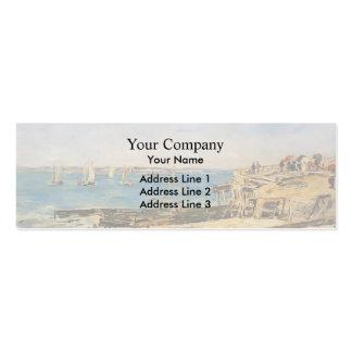 Eugene Boudin- Villerville the Shore Business Card Template