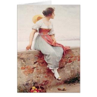 Eugene de Blaas- A Pensive Moment Card