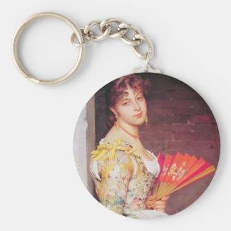 Eugene de Blaas- Daydreaming Keychain