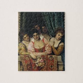 Eugene de Blaas- Ladies en un balcón Rompecabezas